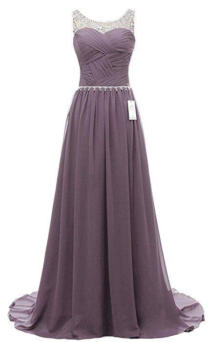 Eudolah Damen Abendkleider Elegant Ballkleider lang Maxi Bunte ...