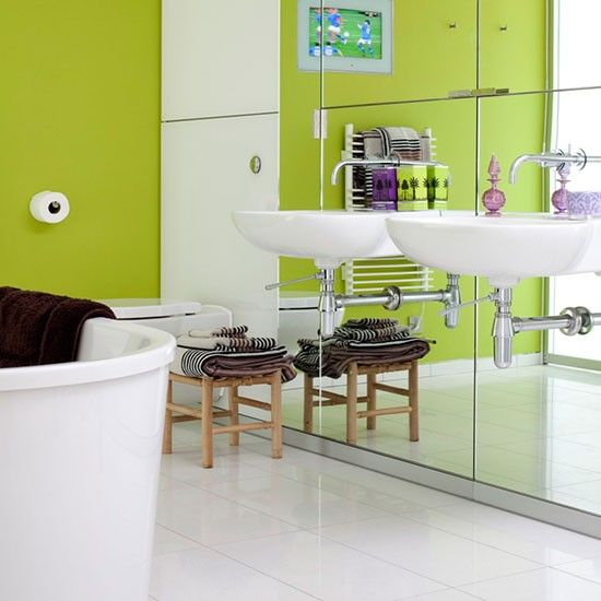 Looking Good Bath Mat - Lime green bath mat for bathroom decorating ideas