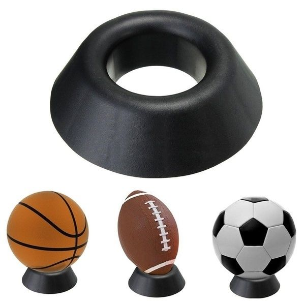 Soccer Ball Stand Basketball Football Soccer Rugby Plastic Display Holder For Box Case In 2020 Football Soccer Basketball Display Football Displays