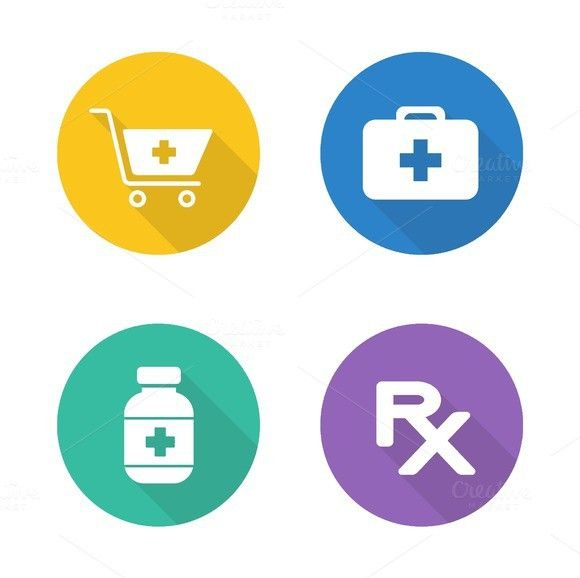 pharmacy icons vector medical infographic 300