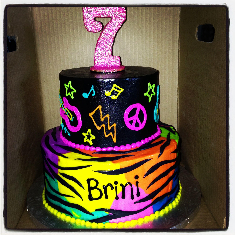 Brinis 7th Pop Princess Rockstar Birthday Cake Parties
