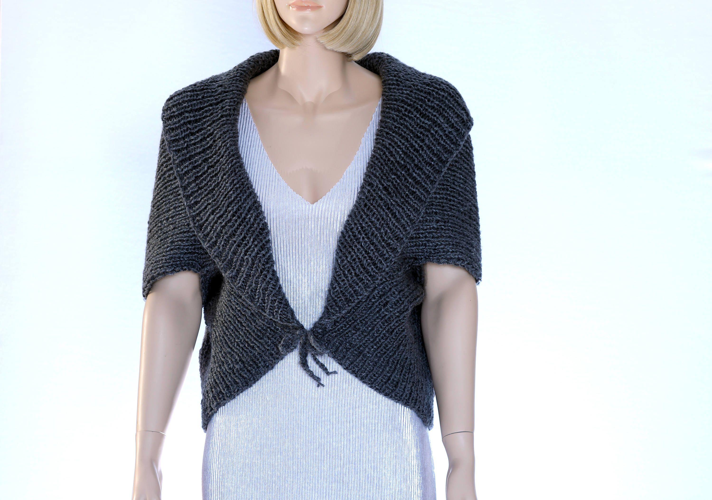 Knit Bolero Cocoon Shrug Bolero vest pattern Knit shrug pattern Knit ...