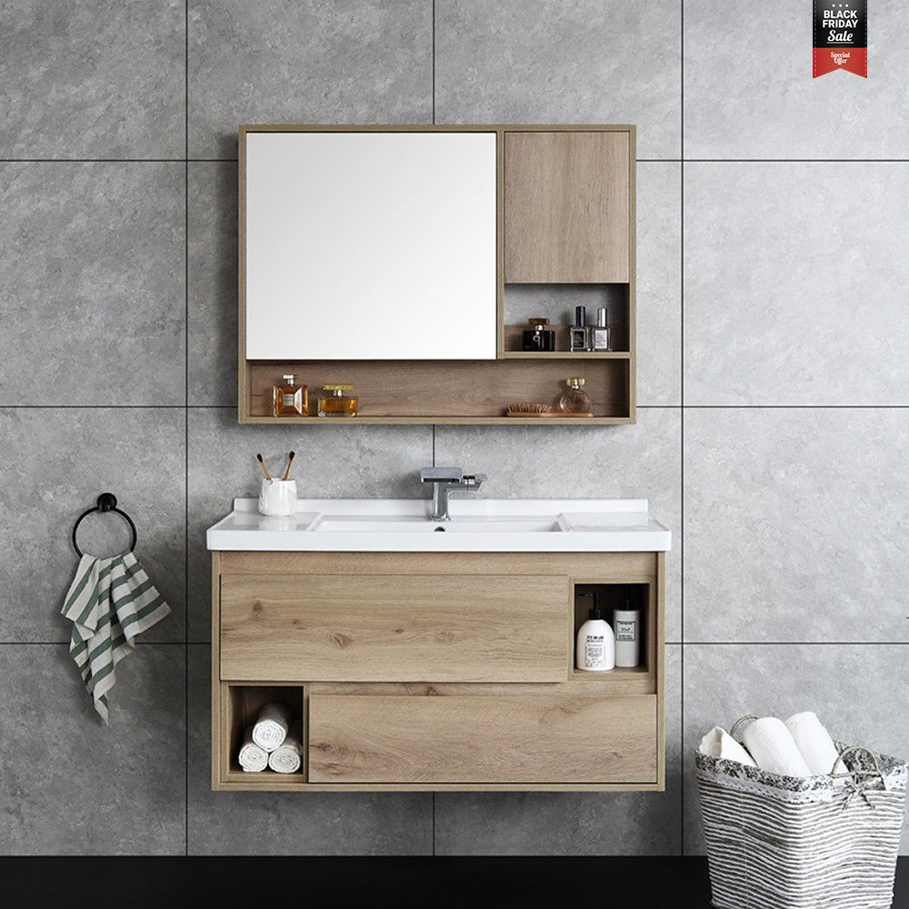 Photo of From $789.99 Modern 39″ Single Sink Bathroom Vanity Set Quartz with Marble Finish