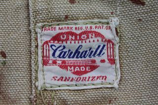 3f2548cfd vintage workwear: 1940's Carhartt Brown Duck Chore Jacket   label ...