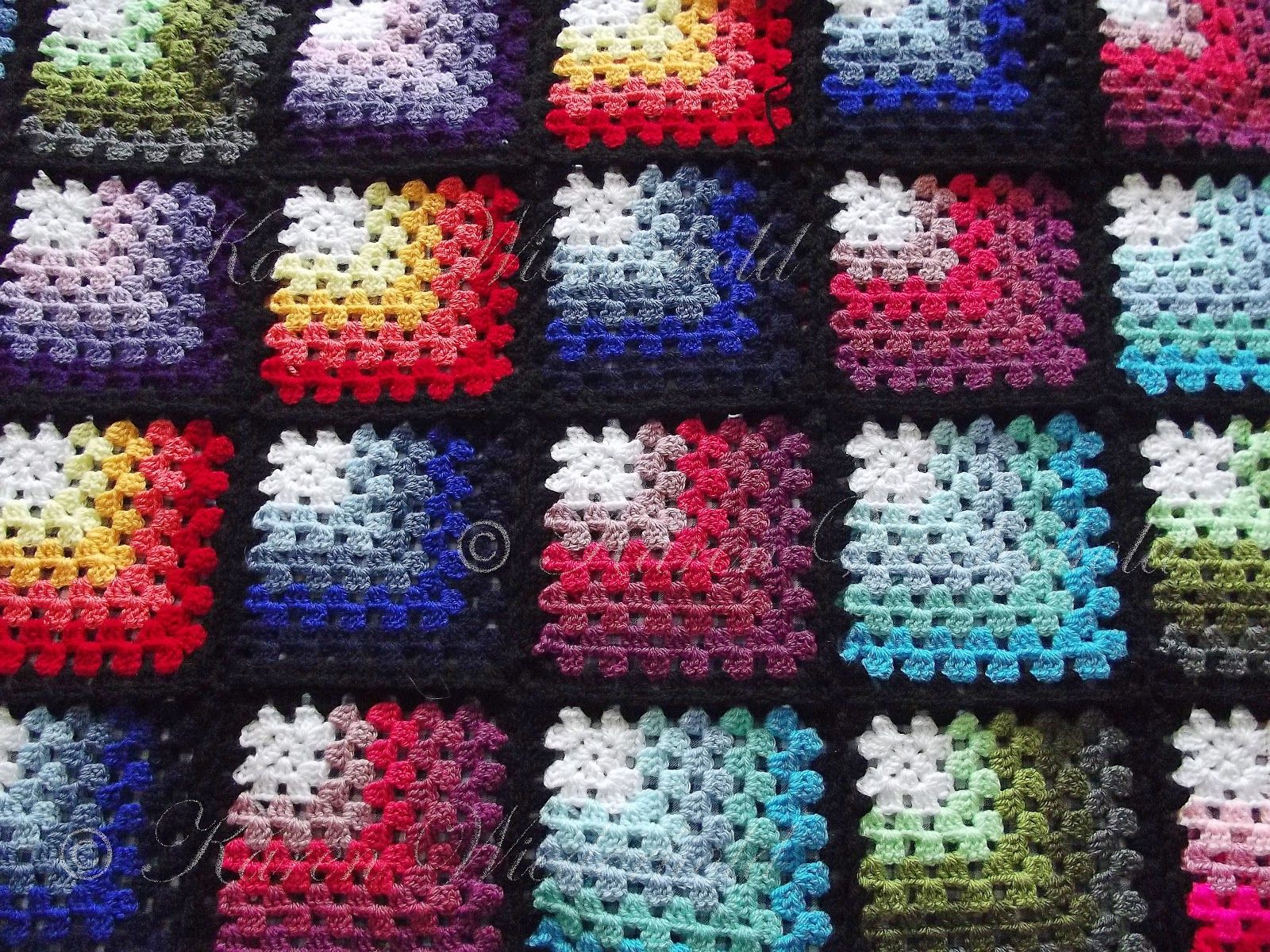 crochet granny square patterns free | Karen Wiederhold: Mitred ...