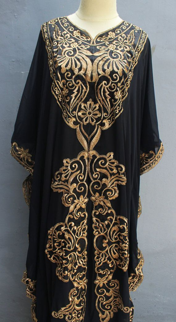be3acfdca52 Exclusive Caftan Dress With Fancy Gold Embroidery Great for Wedding  Bridesmaid Party Summer Kaftan Maxi Dress. Made From Super Chiffon Quality.  For those