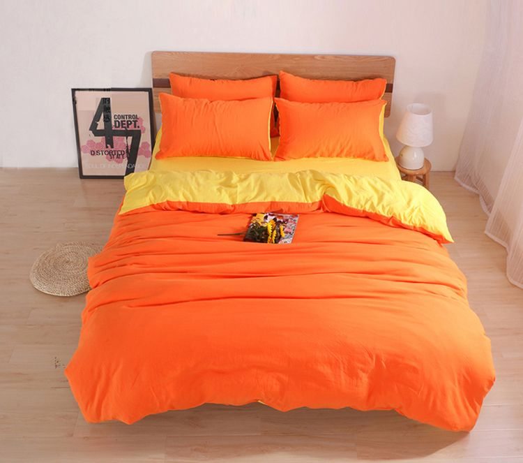 Solid Bedding Sets Custom Size Duvet Cover Set USA Russia Size Bed Cover  Two Tone