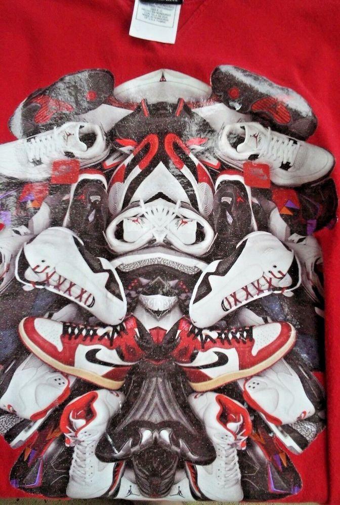 9b6393928c12 Michael Jordan Air T Shirt Vintage Nike Red T Jordan NBA MJ Fan Collector  XL  Nike  GraphicTee