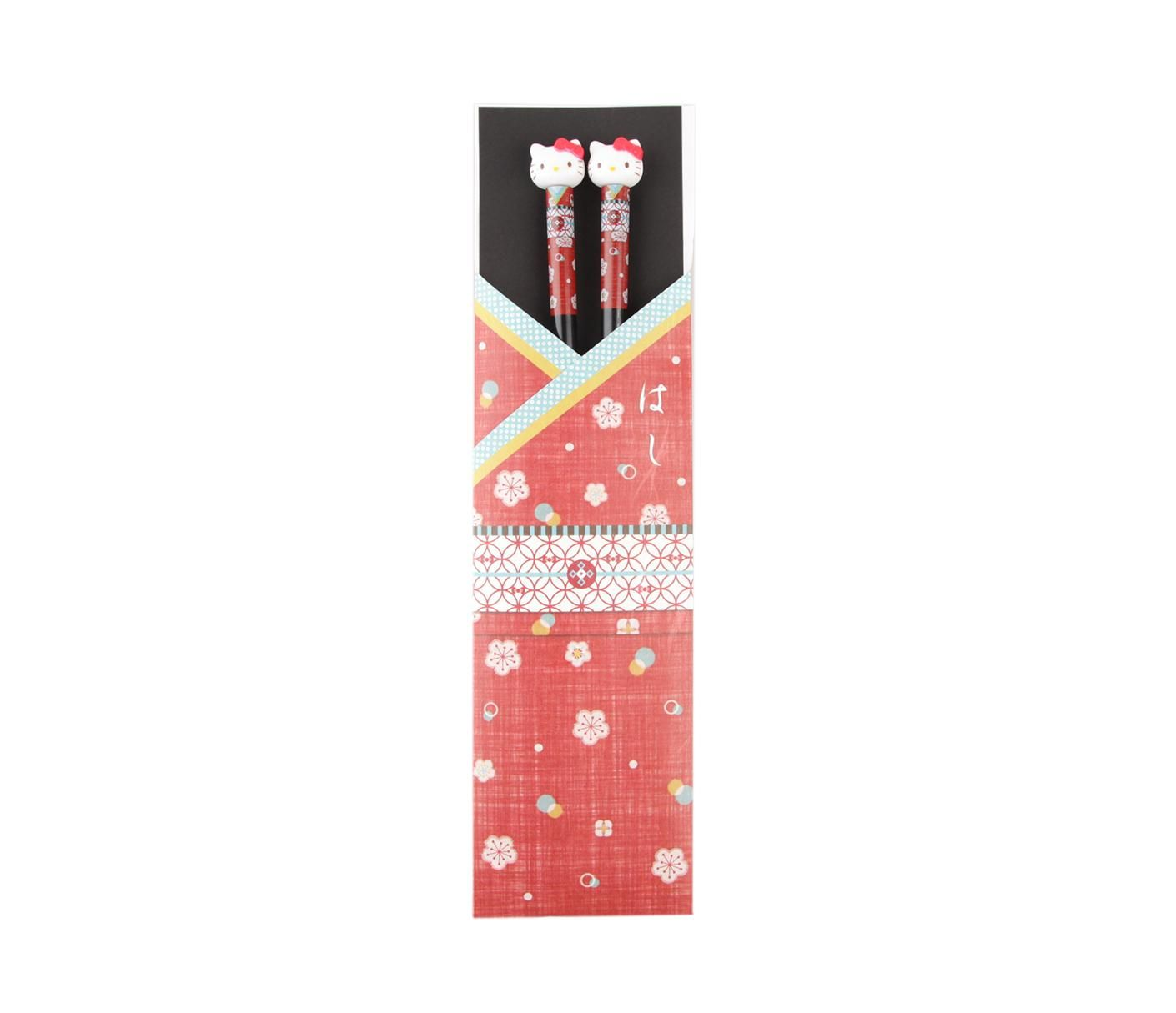 Hello Kitty Chopsticks: Red Kimono