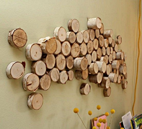 Sliced Wood Walls And Telekinesis Diy Wall Art Wood Slice Decor Diy Wall