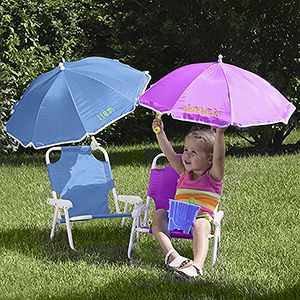 Beach Chair Personalized Umbrella