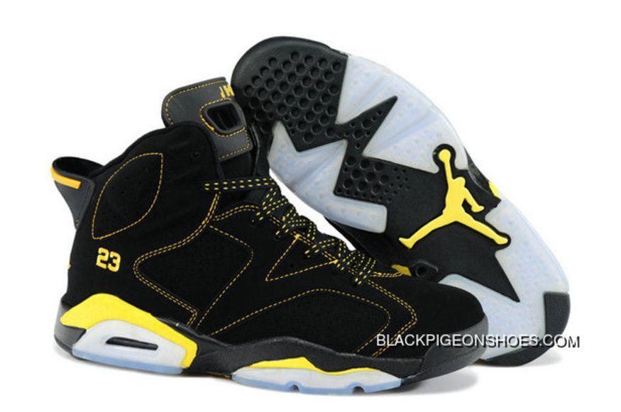 Best Air Jordan 6 Black Yellow in 2019  f20ef1d45