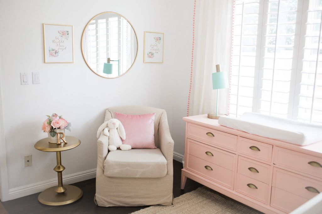 Pink, White and Gold Girl's Nursery - Project Nursery
