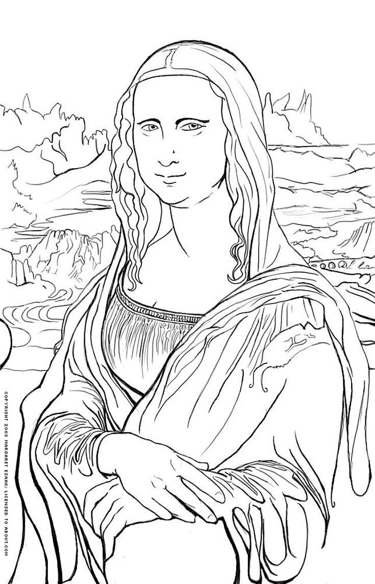 Free Art History Coloring Pages History Painting Famous Art Art History Lessons
