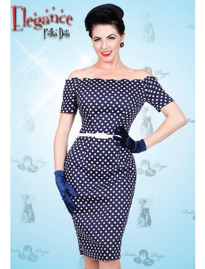 327d93989c5622 Elegance navy polka - Rockabilly Clothing - Online Shop für Rockabillies und  Rockabellas