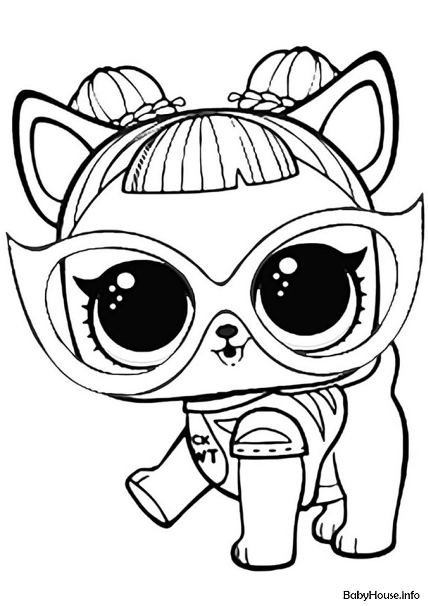 Lol Dog Coloring Pages : coloring, pages, High-quality, Coloring, Category:, L.O.L, Pets., Printable, Pictures, Page,, Animal, Pages,, Unicorn, Pages