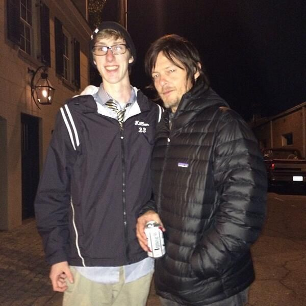 The Wild Reedus at 3am in Savannah. #PuffyReedus (he gave sitback_remax his beer