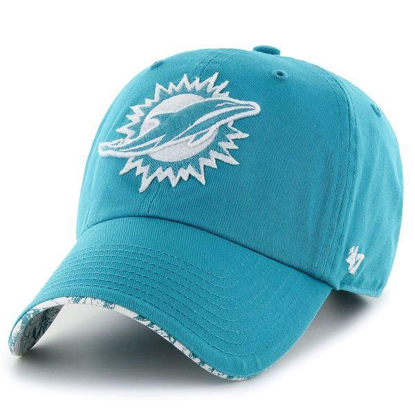 e8669e627066b Women s Miami Dolphins  47 Brand Aqua Olivia Clean Up Adjustable Hat ...