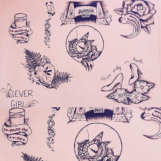 New tattoo flash #jurassicPark #mokapresley #jurassic #raptor #flash ...