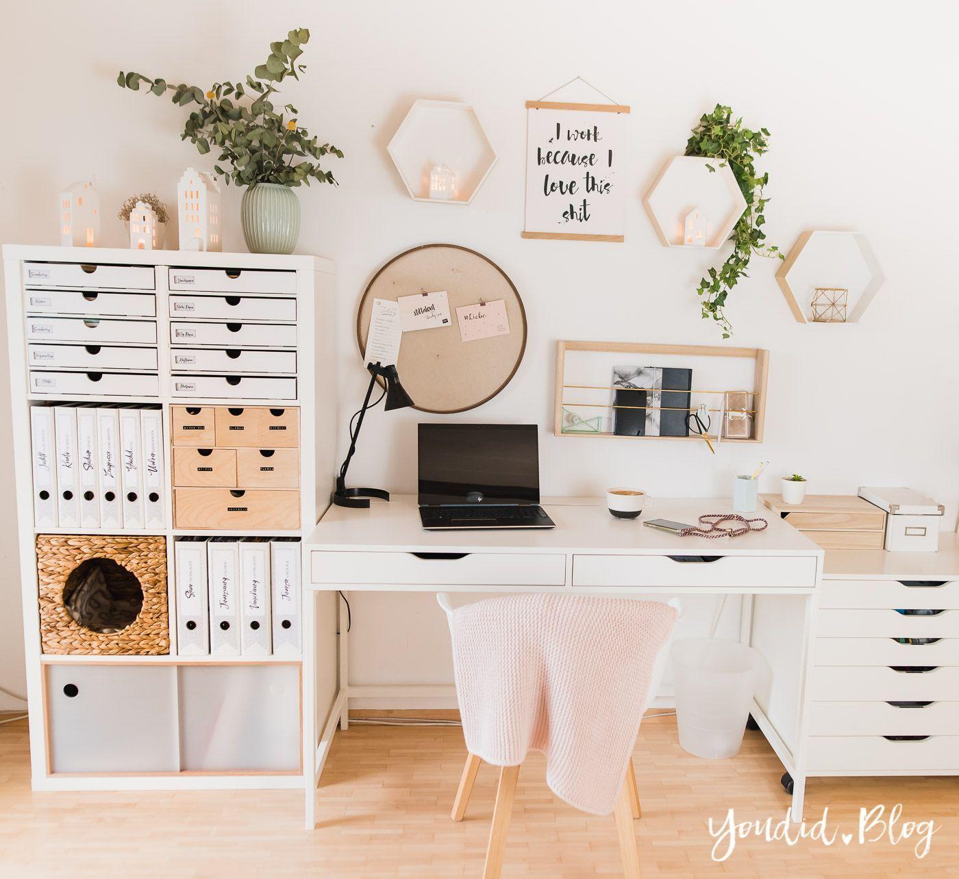 Heute zeige ich dir mein kleines Home Office Updat