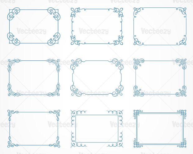 Calligraphic-frames-vecteezy