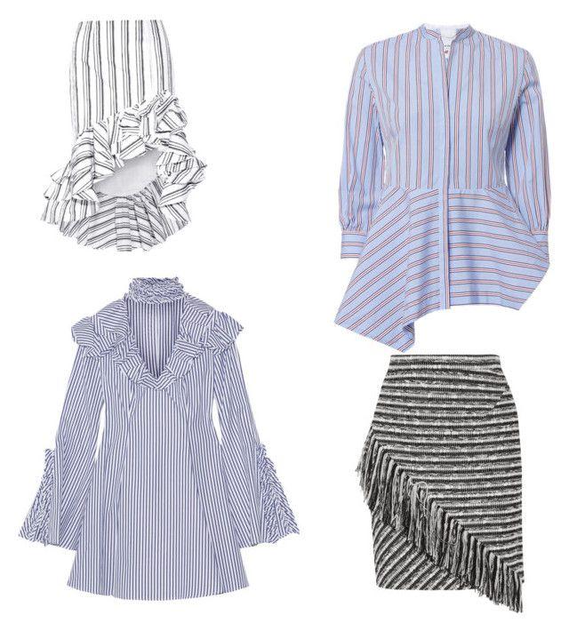 """Stripes"" by oespinal on Polyvore featuring moda, Caroline Constas, Le Sarte Pettegole y Raoul"