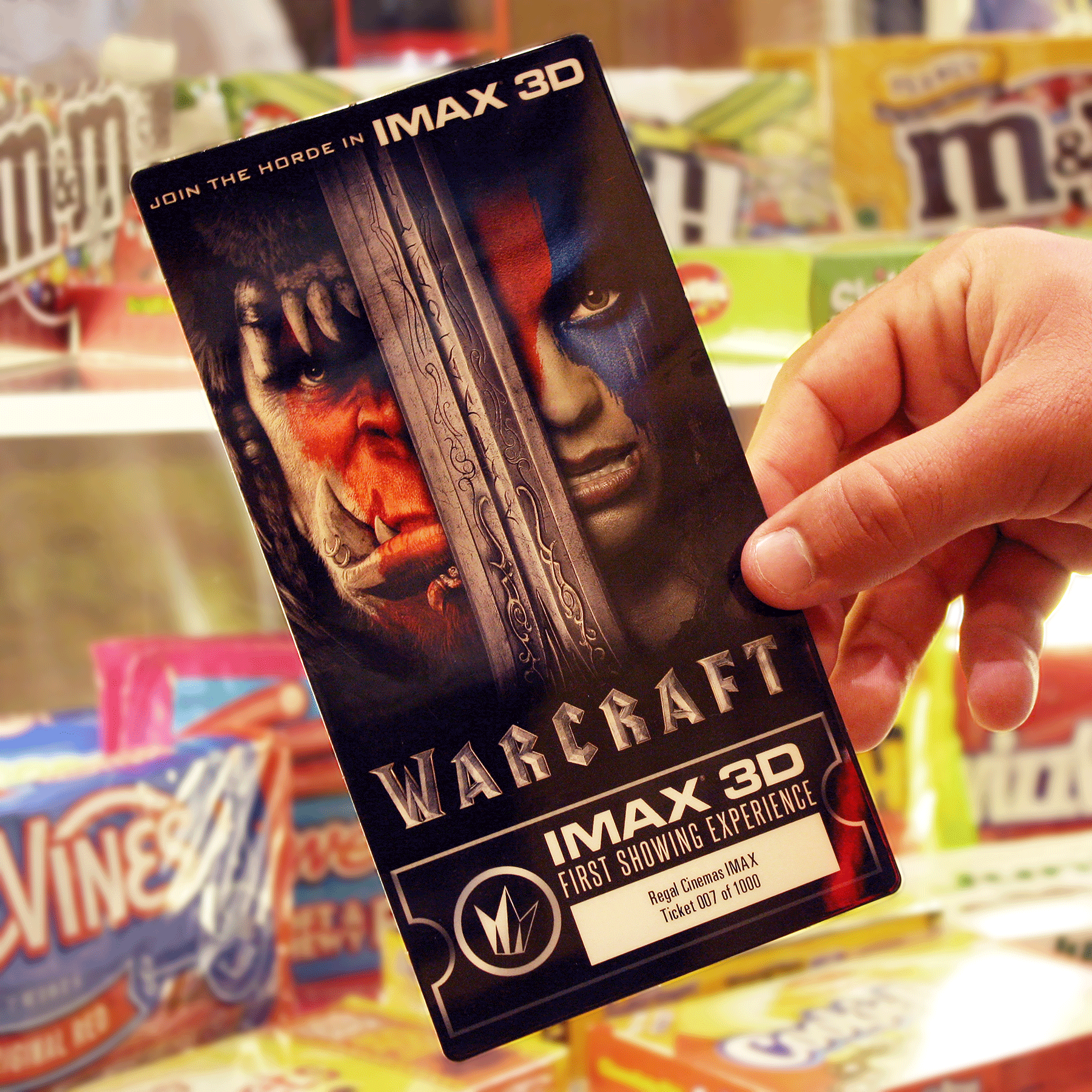 Post a photo of your Warcraft IMAX collectible tickets from