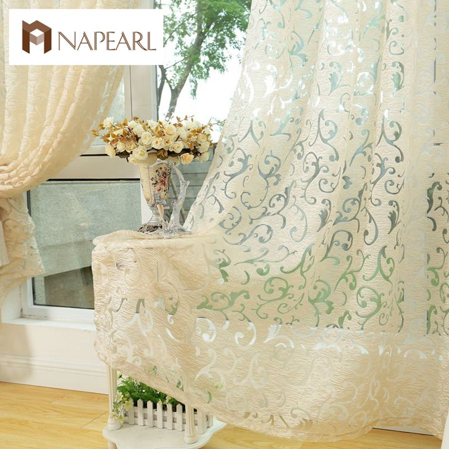 European style jacquard curtain for home window treatments curtains ...