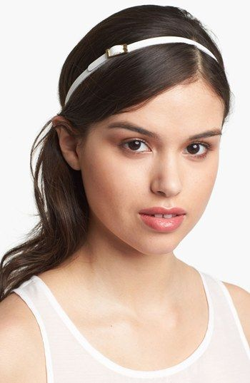 A headband works styling wonders for nearly every type of hair and hair length, whether wet or dry. The buckle adds a tailored twist to the simple white band. Women's 'Buckle My Belt' Leather Head Wrap by Tasha via @Nordstrom