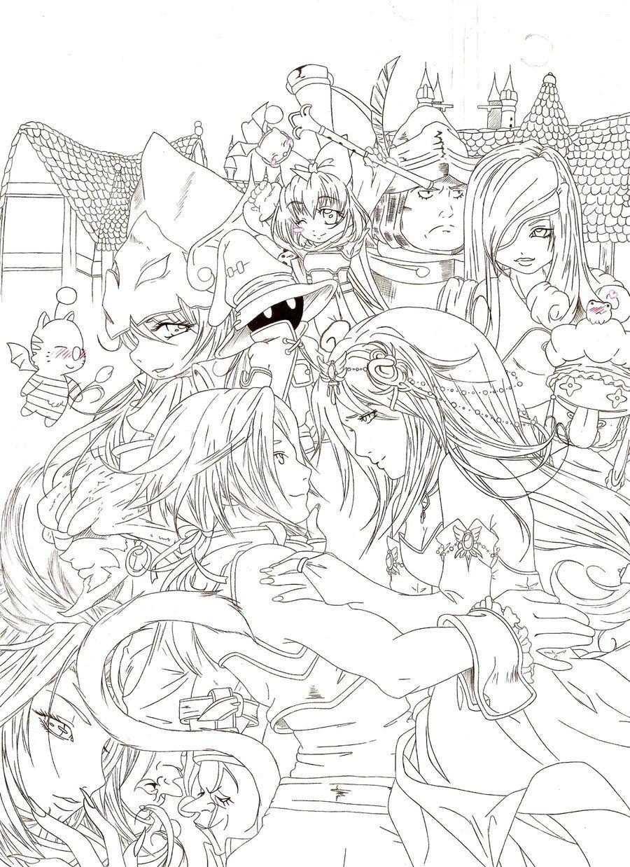 Final Fantasy 9 Fan Art Arte Final Fantasy Paginas Para Colorir