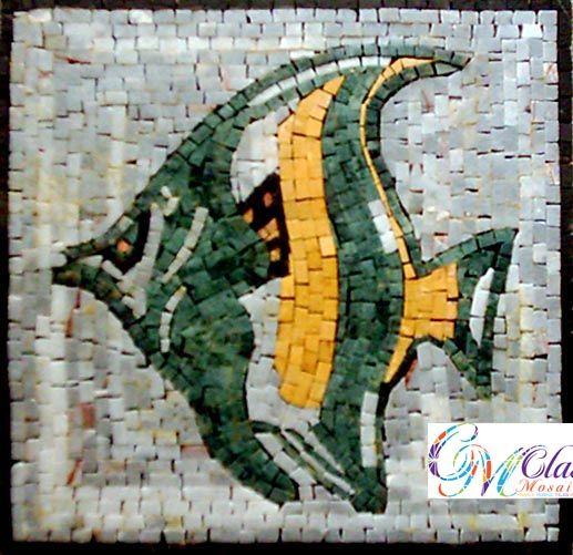 Decorative Stone Tile An041 Marble Mosaic Fish Decorative Stone Tile  Animal Marble