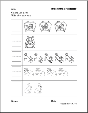 worksheet pets write the number preschool primary preview 1 preschool letters numbers. Black Bedroom Furniture Sets. Home Design Ideas