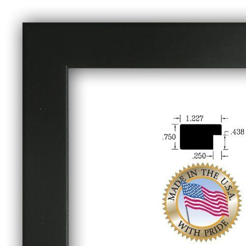 ArtToFrames 18x24 inch Black Picture Frame, WOMFRBW72079-18x24 ...