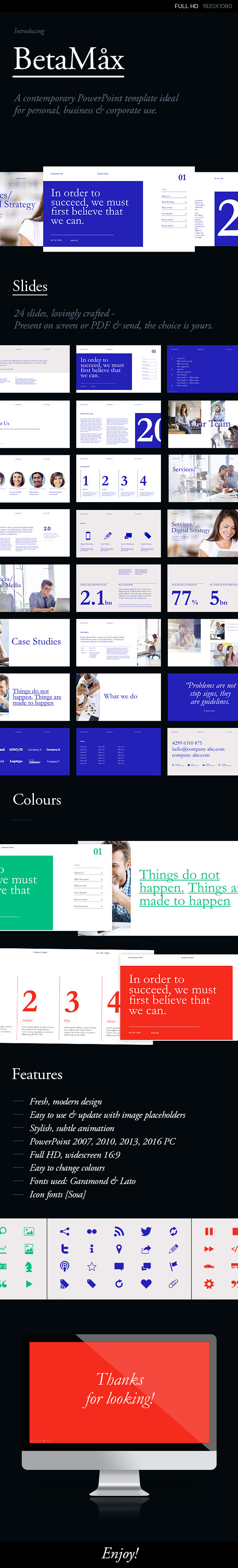 a contemporary powerpoint template ideal for personal, business, Powerpoint templates