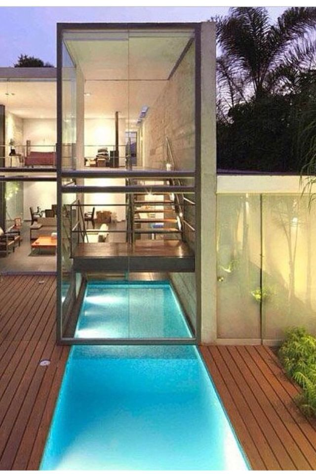 Contemporary gl house with integrated pool | Dream Home ...