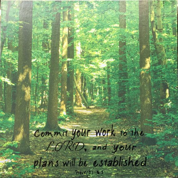 path thru the Forest Proverbs 16 3  scripture art by RocksOfFaith