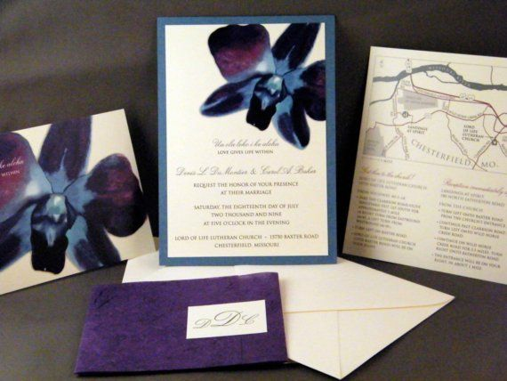 Blue Orchid Wedding Invitations: Blue Orchid Event Invitation :-)