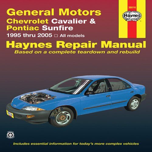 general motors chevrolet cavalier pontiac sunfire 1995 thru 2005 rh pinterest com Haynes Book Haynes Catalogue