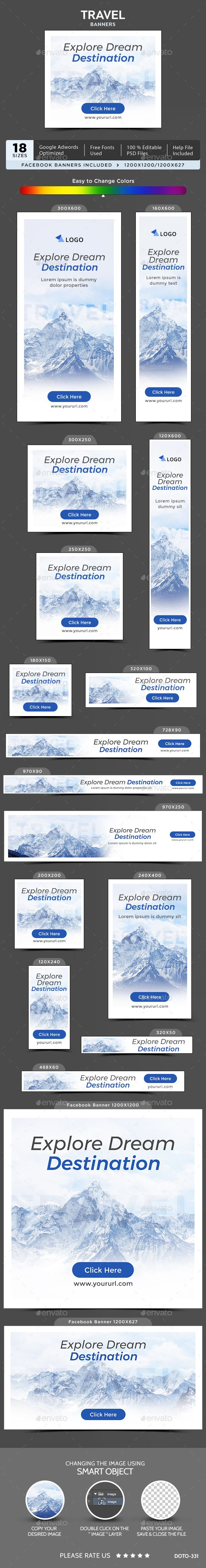 Travel Banners | Banner template, Banners and Template