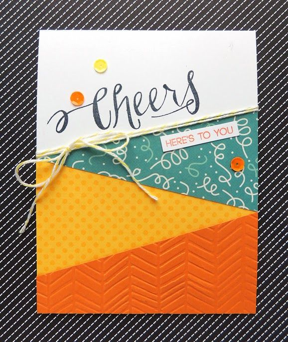 Card Making Monday: Cheers To You @Eva S. Stamp Shop stamps + @We R Memory Keepers papers