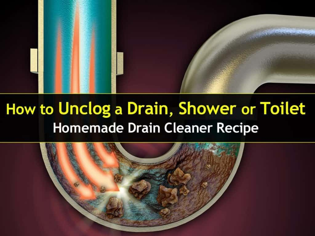 How to Unclog a Drain Sink or Toilet Homemade cleaner recipes