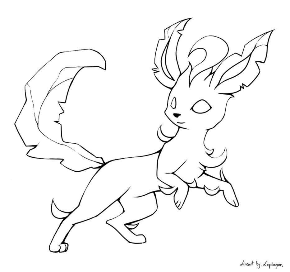 Leafeon Pokemon Fan Art Pokemon Coloring Pages Pokemon Coloring Pokemon Fan Art