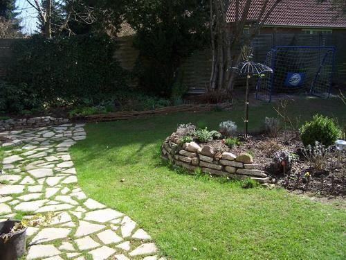 Mit Waschbetonplatten puzzeln Garten Pinterest Umdrehen - garten neu gestalten vorher nachher