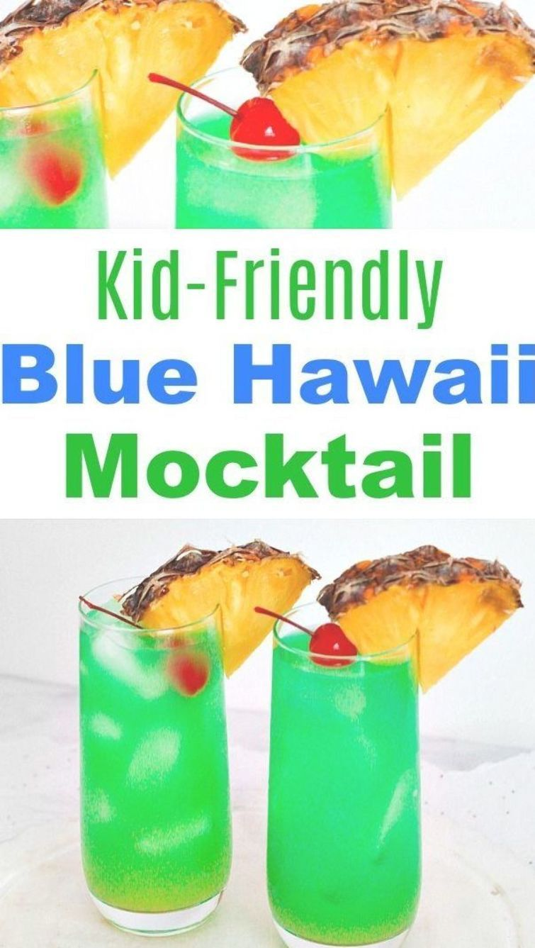 Blue Hawaii Mocktail Drink Recipe- Blue Hawaii cocktails make a wonderful summer drink. This Blue Hawaii mocktail drink recipe is just as colorful and refreshing as the traditional version, but is alcohol-free and kid-friendly! It's perfect for summer get-togethers! | easy drink recipes for kids, #drink #recipe #mocktail #nonAlcoholic #summer #alcoholFree #summerDrink #nonalcoholicsummerdrinks Blue Hawaii Mocktail Drink Recipe- Blue Hawaii cocktails make a wonderful summer drink. This Blue Hawai #nonalcoholicsummerdrinks