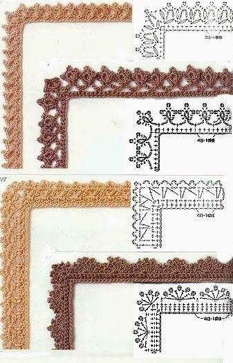 Uncinetto E Crochet Raccolta Schemi Per Bordi E Rifiniture Ad