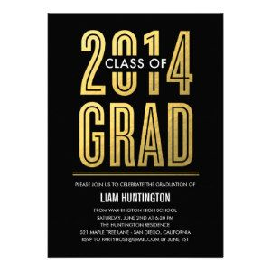 2014 Graduation Top 25 Announcements For Boys Party Invitations