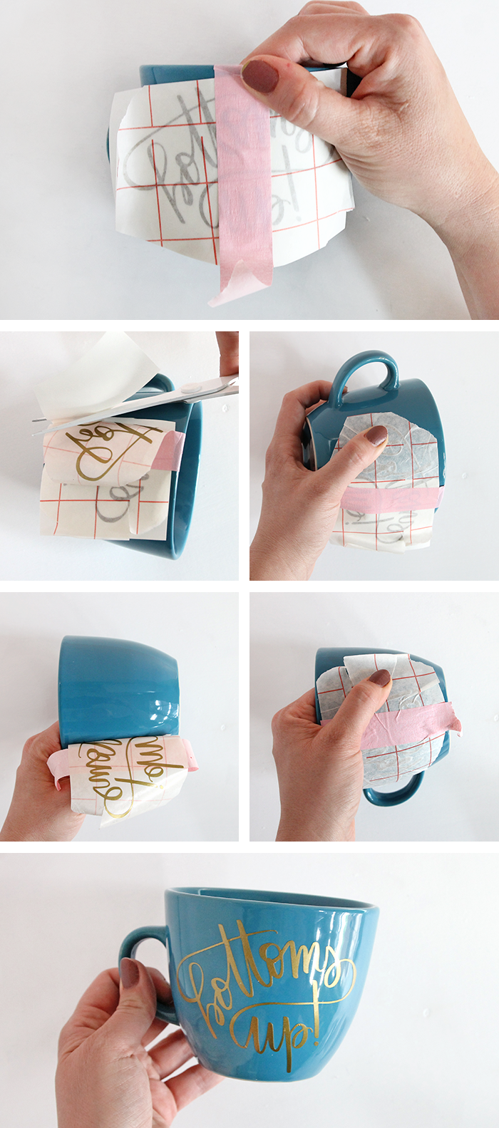 How to DIY Personalized Mugs and Tea Cups - Persia Lou