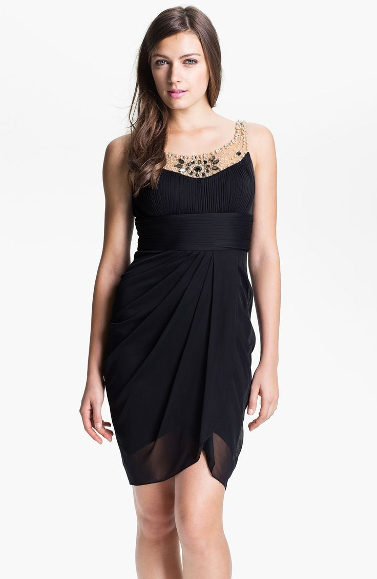 cocktail dresses at nordstrom | Adrianna Papell Jeweled Yoke ...