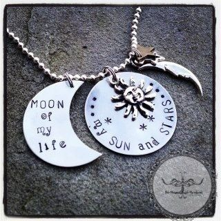 MAKE INTO TSHRTS Moon of my life, my sun and stars, game of thrones inspired necklace