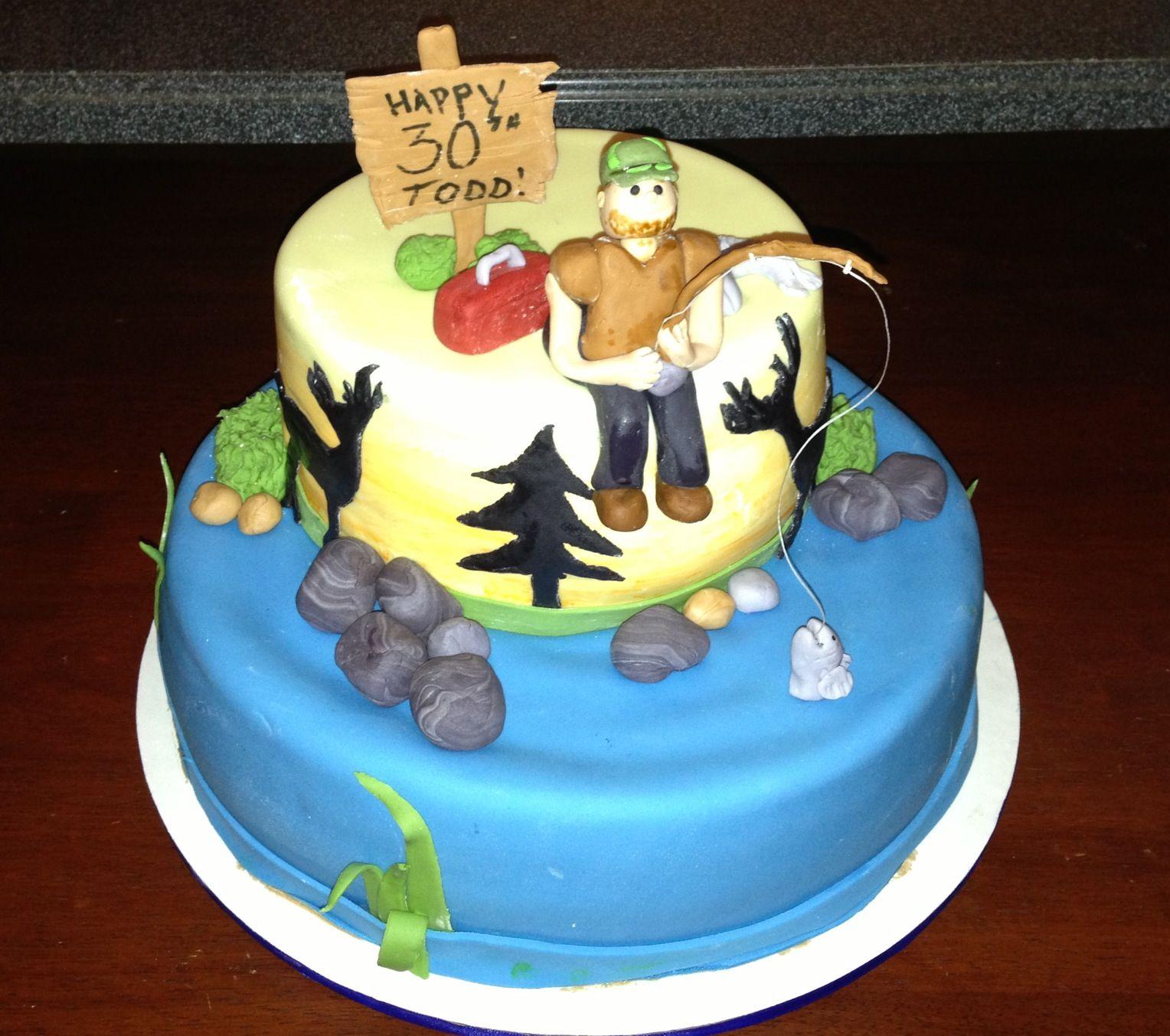My husband's 30th Birthday cake!! New birthday cake